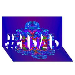 Abstract 5 #1 DAD 3D Greeting Card (8x4)