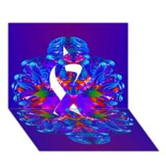 Abstract 5 Ribbon 3D Greeting Card (7x5)