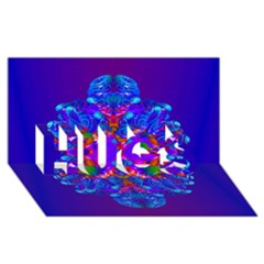 Abstract 5 HUGS 3D Greeting Card (8x4)
