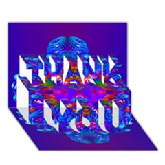 Abstract 5 Thank You 3d Greeting Card (7x5)