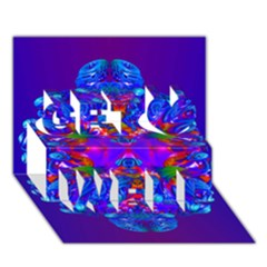 Abstract 5 Get Well 3d Greeting Card (7x5)