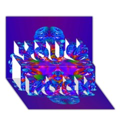 Abstract 5 You Rock 3d Greeting Card (7x5)
