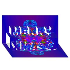 Abstract 5 Merry Xmas 3D Greeting Card (8x4)