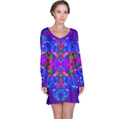 Abstract 5 Long Sleeve Nightdresses