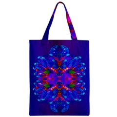 Abstract 5 Zipper Classic Tote Bags