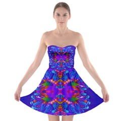 Abstract 5 Strapless Bra Top Dress