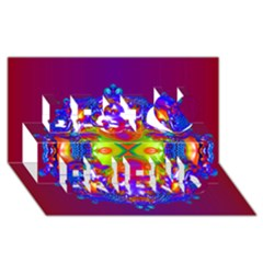 Abstract 6 Best Friends 3D Greeting Card (8x4)