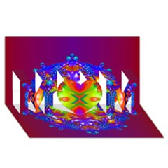 Abstract 6 MOM 3D Greeting Card (8x4)