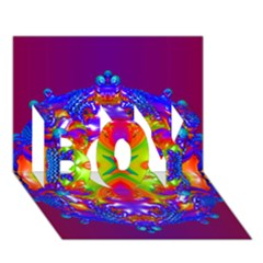 Abstract 6 BOY 3D Greeting Card (7x5)