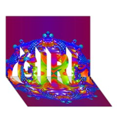 Abstract 6 Girl 3d Greeting Card (7x5)