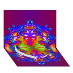 Abstract 6 Heart Bottom 3D Greeting Card (7x5)