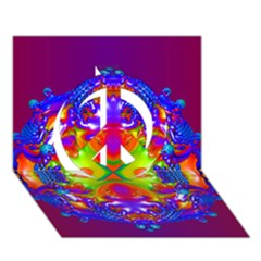 Abstract 6 Peace Sign 3D Greeting Card (7x5)