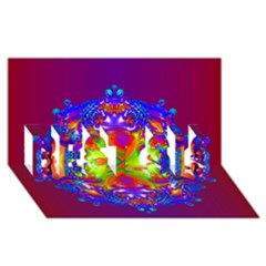 Abstract 6 Best Sis 3d Greeting Card (8x4)