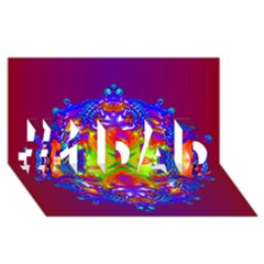Abstract 6 #1 DAD 3D Greeting Card (8x4)