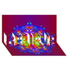 Abstract 6 Believe 3d Greeting Card (8x4)