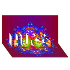 Abstract 6 Hugs 3d Greeting Card (8x4)