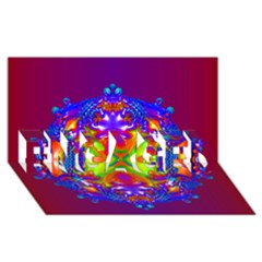Abstract 6 ENGAGED 3D Greeting Card (8x4)