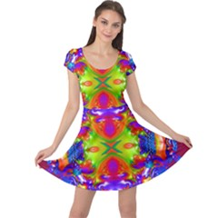 Abstract 6 Cap Sleeve Dresses