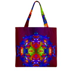 Abstract 6 Zipper Grocery Tote Bags