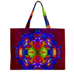 Abstract 6 Zipper Tiny Tote Bags