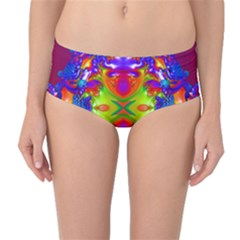 Abstract 6 Mid-Waist Bikini Bottoms
