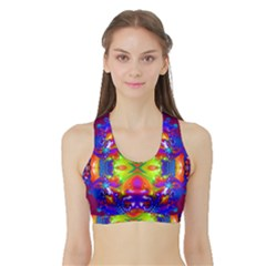 Abstract 6 Women s Sports Bra With Border