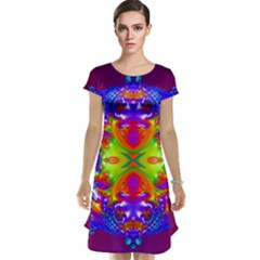 Abstract 6 Cap Sleeve Nightdresses