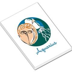 Aquarius Star Sign Large Memo Pads
