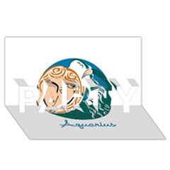 Aquarius Star Sign Party 3d Greeting Card (8x4)