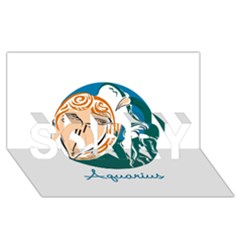Aquarius Star Sign SORRY 3D Greeting Card (8x4)