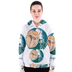 Aquarius Star Sign Women s Zipper Hoodies