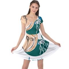Aquarius Star Sign Cap Sleeve Dresses