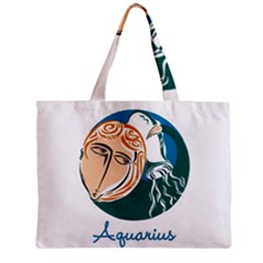 Aquarius Star Sign Zipper Tiny Tote Bags