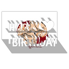 Gemini Star Sign Happy Birthday 3d Greeting Card (8x4)