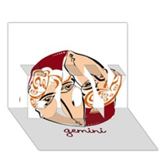 Gemini Star Sign Boy 3d Greeting Card (7x5)