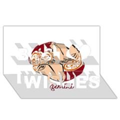 Gemini Star Sign Best Wish 3D Greeting Card (8x4)