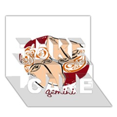 Gemini Star Sign Take Care 3d Greeting Card (7x5)