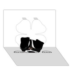Bern Mt Dog Peeping Dog Clover 3D Greeting Card (7x5)