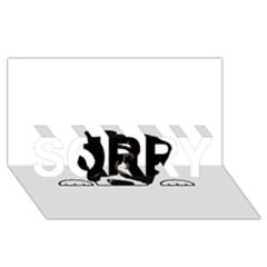 Bern Mt Dog Peeping Dog SORRY 3D Greeting Card (8x4)