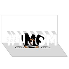 Peeping Bernese Mountain Dog #1 MOM 3D Greeting Cards (8x4)