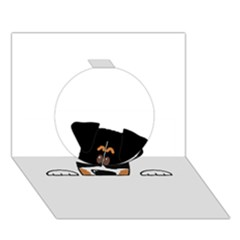 Peeping Bernese Mountain Dog Circle 3D Greeting Card (7x5)