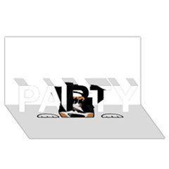 Peeping Bernese Mountain Dog PARTY 3D Greeting Card (8x4)