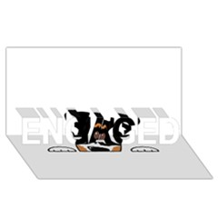 Peeping Bernese Mountain Dog ENGAGED 3D Greeting Card (8x4)