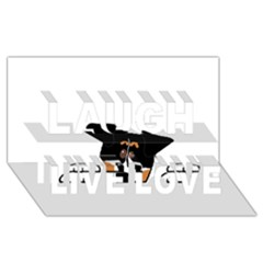 Peeping Bernese Mountain Dog Laugh Live Love 3D Greeting Card (8x4)