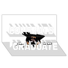 Peeping Bernese Mountain Dog Congrats Graduate 3D Greeting Card (8x4)