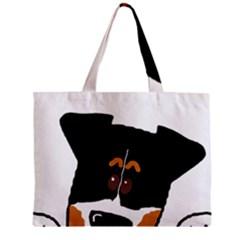 Peeping Bernese Mountain Dog Zipper Tiny Tote Bags