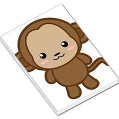 Kawaii Monkey Large Memo Pads