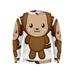 Kawaii Monkey Boys  Sweatshirts