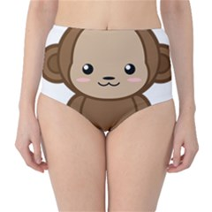 Kawaii Monkey High Waist Bikini Bottoms