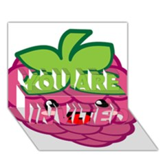 Raspberry YOU ARE INVITED 3D Greeting Card (7x5)